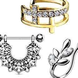 Brass rhodium jewelry